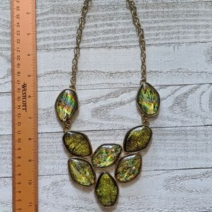 Shiny Green Statement Necklace